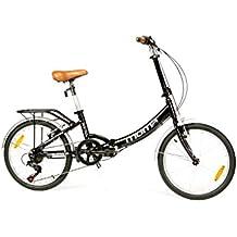 "Moma Bikes Bicicleta Plegable Urbana SHIMANO FIRST CLASS 20"" Alu, 6V. Sillin Confort"