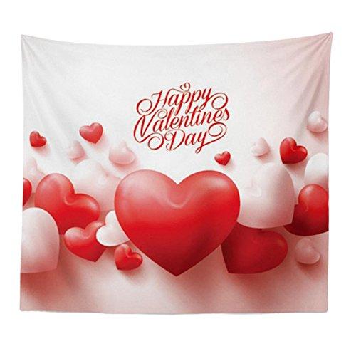 Komise Happy Valentinstag Wandteppich Strand vertuschen Tunic Tapisserie Tischdecke 150 * 130cm, bringt es Ihnen warmen Geist (Multicolour E) (König-decke-clearance)