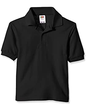 Fruit of the Loom niños polo de piqué Polo Plain manga corta camiseta Negro negro 7 años