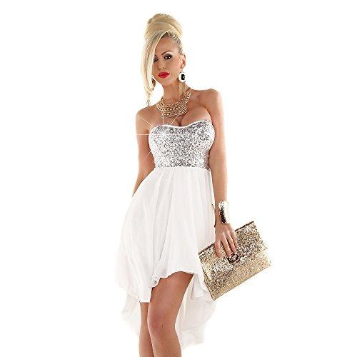 Fashion - Robe - Femme Taille Unique Weiß - Silber