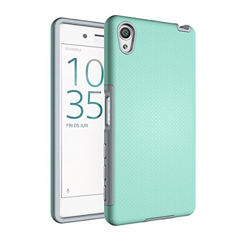 Xperia X Coque,EVERGREENBUYING Ultra Slim léger 2 en 1 F5122 Cases Housse Etui de protection Anti-dérapant hybride Cover pour Sony Xperia X Noir Vert