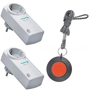 Pflegeruf-Set / Hausnotruf / Senioren-Hausalarm / Senioren-Sicherheitspaket 4 - (mit Funk-Halsbandsender und zwei Steckdosen-Empfängern)