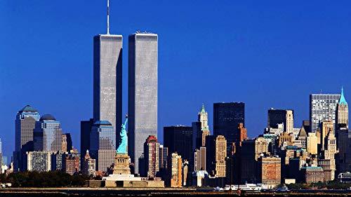 ClassicJP Puzzles 1000-Teiliges World Trade Center New York Für Erwachsene (Stück Paris Center)