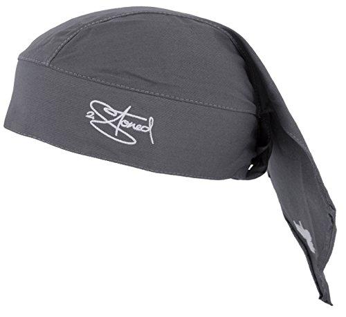 2Stoned Bandana Kopftuch Classic in Anthrazit mit Stick für Damen, Herren und Kinder