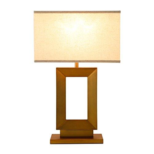 Moderne Metall-basis (Modernes Wohnzimmer Metall Basis geometrisches Licht Gold Tuch E27 Tischlampe)
