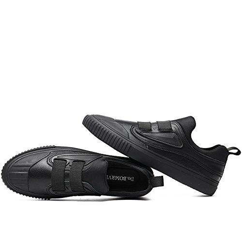 Vilocy Hommes en Cuir Fourrure doublée Plat Chaussures Mocassins Gentleman garçOn Occasionnels en Slip Sur Baskets Basses Chaussures de Sport noir fur
