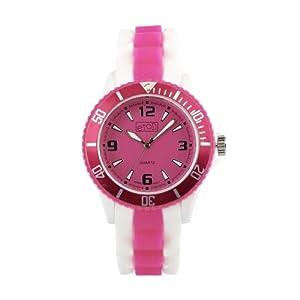 Eton 3014J-PK – Reloj Unisex, Correa de Silicona Color Blanco