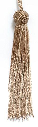 Set von 10Tan, Vanille Woven Head Chainette Quaste, 14cm lang mit 5,1cm Loop, Basic Rand Collection Stil # bh055Farbe: 3432 -