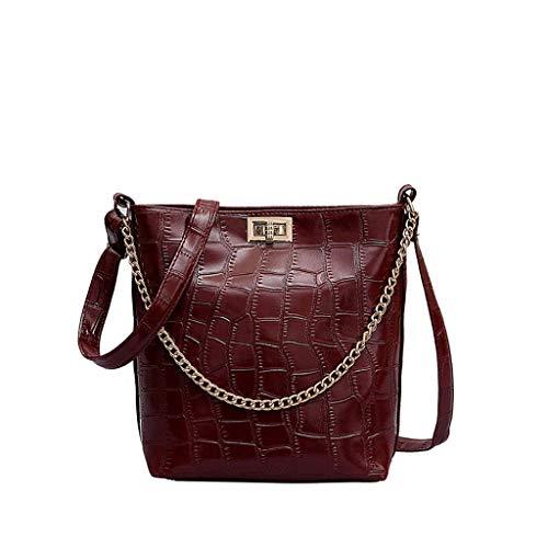 B-commerce Damen Basic Classic Bag Frauen Plissee Muster Umhängetasche Vielseitig Umhängetasche...
