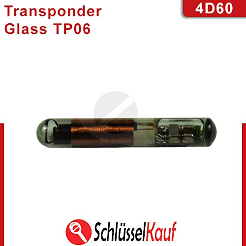 4D 60 Glass Wegfahrsperre Transponder Chip Ford Focus Mondeo Fiesta Fusion Auto Neu