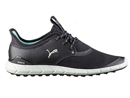 Puma Ignite Spikeless Sport Damen Golfschuhe Frauen Sportschuh schwarz silber blau Größe 40