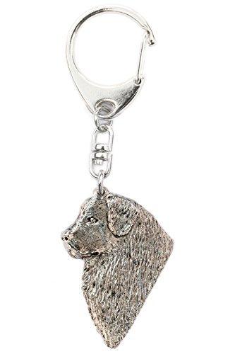 Neufundländer (Kopf) Hergestellt in U.K. Kunstvolle Hunde- Schlüsselanhänger Sammlung (Neufundland Kopf)