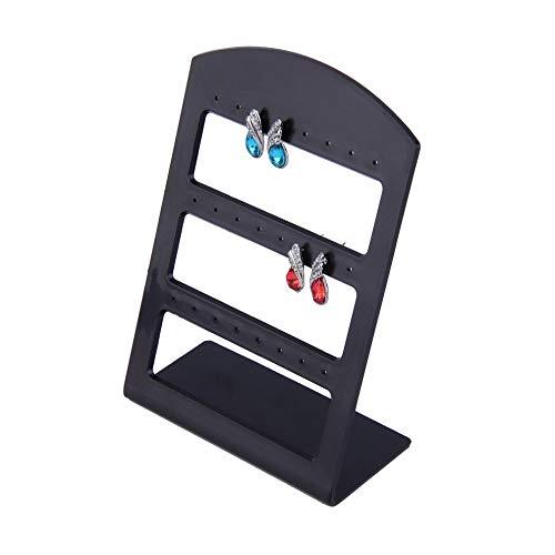 24 Löcher Kunststoff Ohrring Show Display Rack Countertop Ständer Organizer Halter Heißer Verkauf (Organizer Countertop)