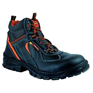 Cofra Safety Boot Yule S3ESD Asgard 13041000, High Shoes–Black, black, 13041-000 - EN safety certified