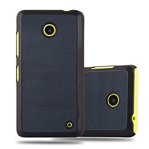 Cadorabo Custodia per Nokia Lumia 630 in Woody Azzurro – Rigida Cover Protettiva Sottile con Bordo Protezione – Back Hard Case Ultra Slim Bumper Antiurto Guscio Plastica