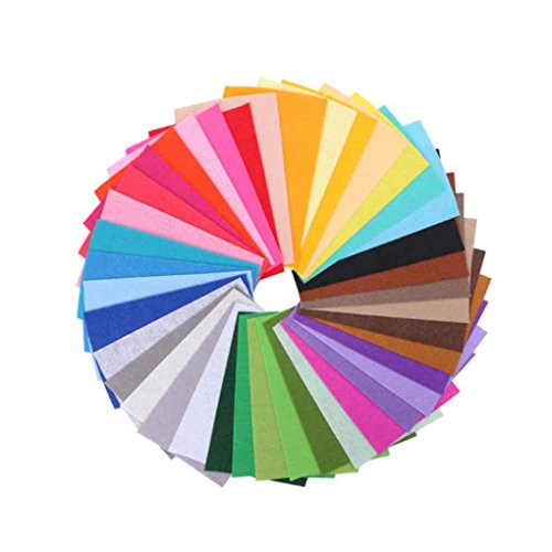 Sunlera 40pcs mischte Farben-Weiche Nonwoven Filzstoff Blätter 10x15cm -