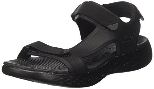 Skechers On-The-go Glide-Venture, Sandalia con Pulsera para Hombre, Negro (Black), 41 EU
