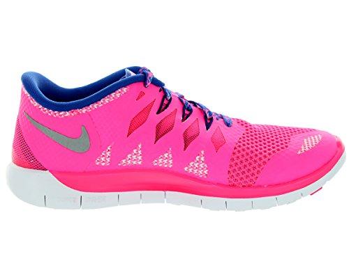 Nike - Free 5.0, pantofole per bambine e ragazze Rosa(hyper pink/metallic silver/royal blue)