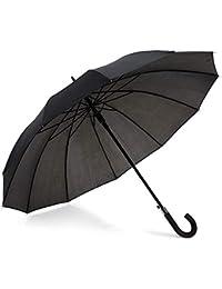 Paraguas Premium 12 Varillas. Automático, Resistente y Elegante. Negro, Hombres y Mujeres