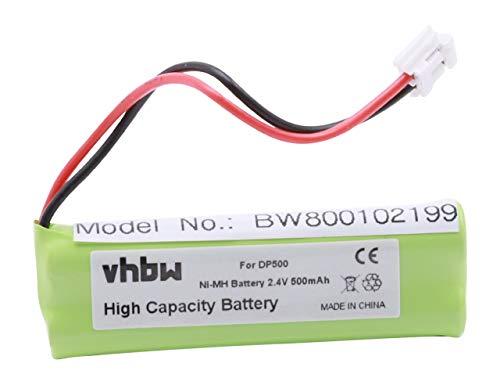 vhbw® NI-MH Akku 500mAh (2.4V) für Festnetz Telefon Swissvoice DP500, DP550, Eco Plus, DP550 BT ersetzt VT50AAAALH2BMJZ, GP1010, GPHC05RN01.