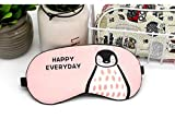 #5: 100% Mulberry Silk, Super soft and comfortable sleep mask in cute penguin design by United Lethargic