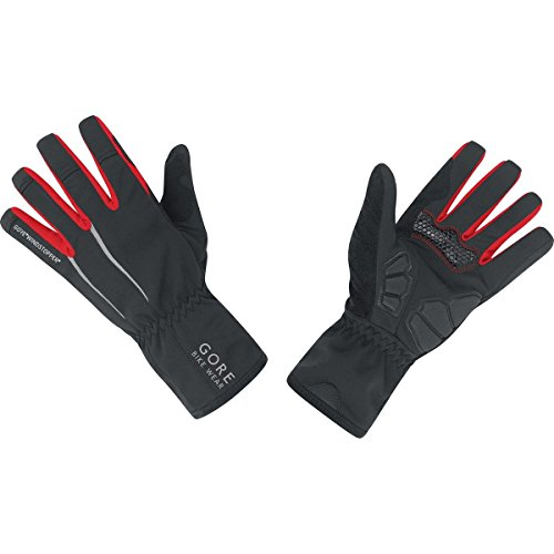 GORE BIKE WEAR Power Windstopper Soft Shell - Guantes de ciclismo para hombre, color negro, talla 8