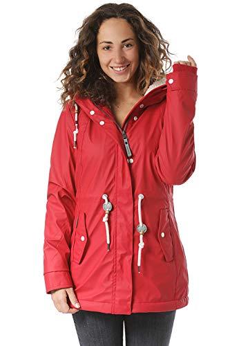 Ragwear Damen Outdoor-Jacke Regenparka Monadis Rainy Black Label Chilli Red Gr. XL