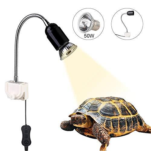 GOLDGE Lámpara para Tortuga,Bombilla compacta Spectrum Terrario Lámpara de Tortuga,360 Grados Adecuado...