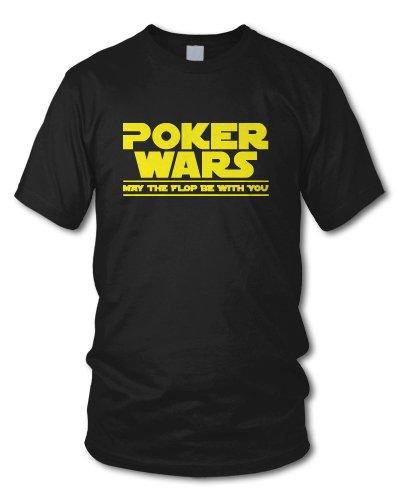 shirtloge - POKER WARS - MAY THE FLOP BE WITH YOU - KULT - Fun T-Shirt - in verschiedenen Farben - Größe S - XXL Schwarz
