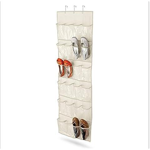 GYMNLJY 24 griglia Storage Bag multistrato parete gioielli deposito borse detriti sacchetto biancheria intima sacchetto Stationery , white