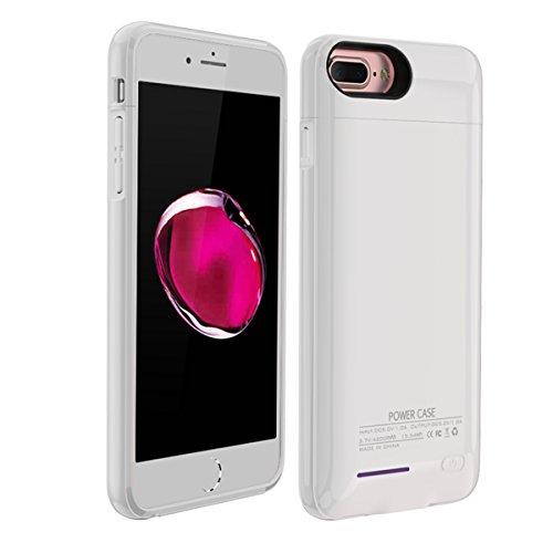 Custodia Batterie iPhone 6 6s 7 8, 3000mAh Esterno Portatile Ricaricabile Power Bank Extra Pack Extended Batteria Integrata Custodia Protettiva Cover per iPhone 6 6s 7 8 (Bianca)