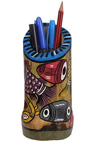 ananth-crafts-peinte-a-la-main-tribal-dance-fabriquee-a-la-main-irreguliere-forme-pen-holder