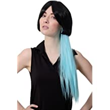 WIG ME UP ® - Sexy Girly Parrucca Cosplay Parrucca Bob Nero Corta   Lunga 2c8aa16030b0