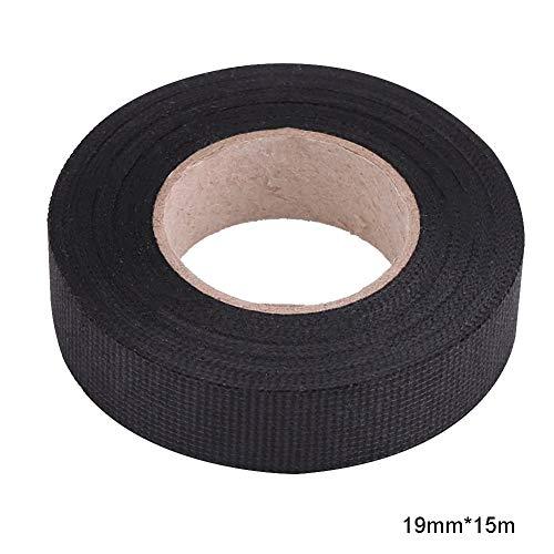 Rotolo di nastro adesivo per imbracatura auto forte tessuto adesivo cablaggio nastro industriale 19mmx15m Nero