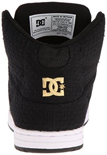 DC Shoes Rebound High Tx Se, Damen Hohe Sneakers Black/White/Gold