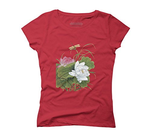 Summer is In The Air Women's Graphic T-Shirt - Design By Humans Red