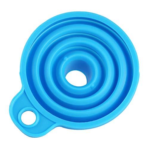 1 Unidad Embudos Plegables para Reciclaje de Aceite Domestic Utensilios de Cocinas Instalaciones de Comedor - Azul