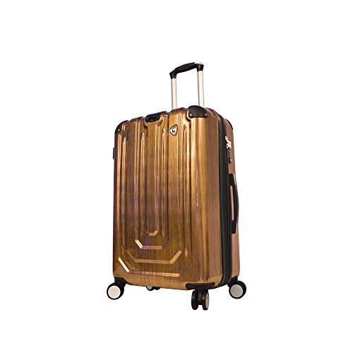 mia-toro-luggage-spazzolato-metallo-hardside-26-inch-spinner-gold-one-size