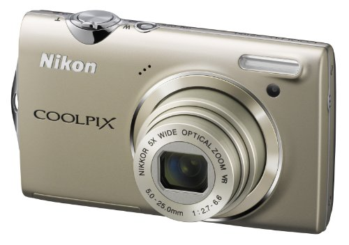 Nikon Coolpix S5100 Digitalkamera (12 Megapixel, 5-fach opt. Zoom, 6.7 cm (2.7 Zoll) Display, HD-Videofunktion) silber