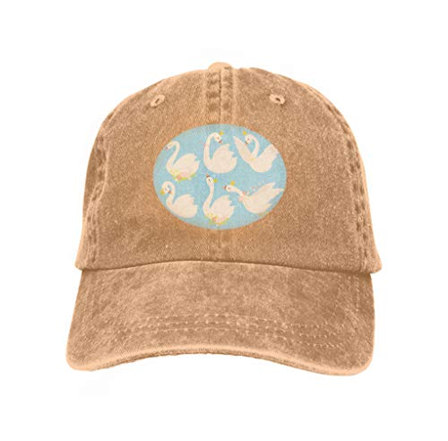 Kostüm Swan Princess - Vintage Jeans Baseball Cap Cute Princess swan Beautiful White Swans Gold Crown Cartoon Goose Bird Duckling Set Fairytale Creature