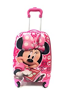 Disney Minnie Mouse Kids Girls Cabin Trolley Case 4 Wheeled Bag Suitcase Hand Luggage Uk