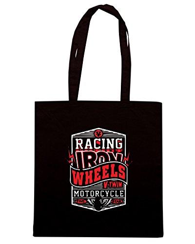 T-Shirtshock - Borsa Shopping TB0349 motorcycle racing 2 Nero