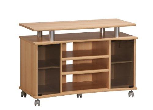 fernsehschrank holz MAJA-Möbel 7362 4831 TV-Rack, Buche-Nachbildung - Alu-Optik, Abmessungen BxHxT: 99,7 x 67,6 x 45 cm