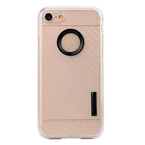 Cover per iPhone 7, Tpulling Custodia per iPhone 7 Case Cover Nuova copertura molle sottile della cassa del gel del silicone di protezione per IPhone 7 4.7 pollici (Navy) Black