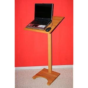 Casa Massivholz Rednerpult Stehtisch Schreibpult Lesepult Laptoptisch Notenständer Buche geölt