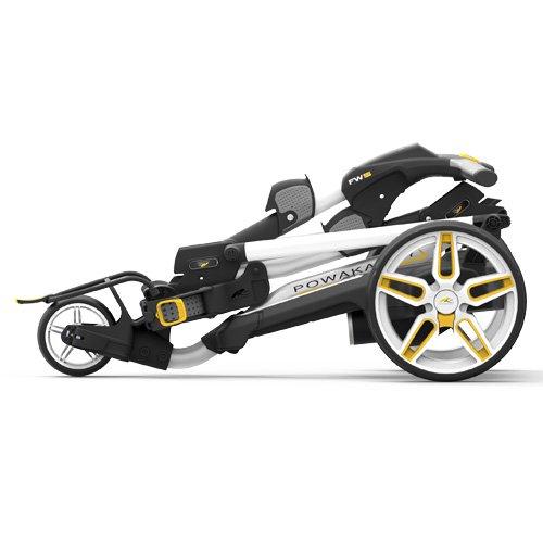 Chariot de golf électrique Powakaddy fw5i Blanc avec batterie de lithium
