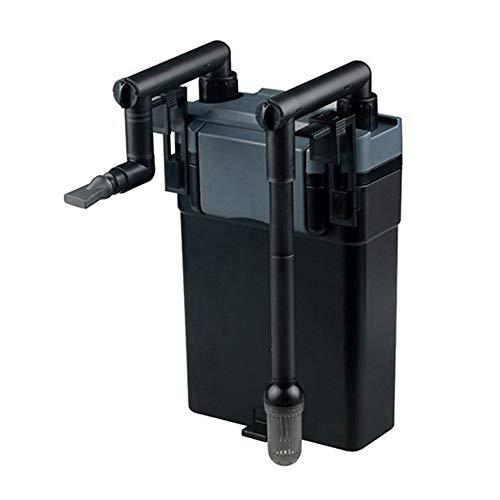 Jiasj Mini Ajustable Filtro Externo para Acuario