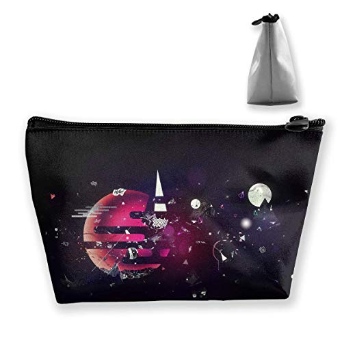 Planet Fragmentation Sky Portable Cosmetic Bag Mobile Trapezoidal Storage Bag Travel Bags with Zipper ()