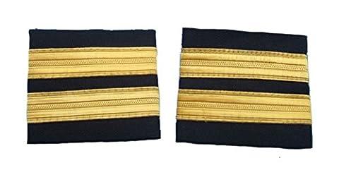 Uniform Store London Pilot Epaulette Captain First Officer 2 Bars Airline R147