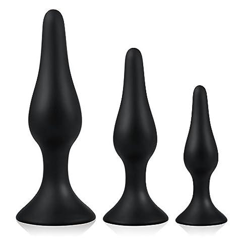 Utimi Plugs en Silicone Noir 3 Pièces
